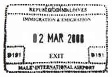 Visa tampon Maldives Passeport